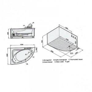 Whirlpool Bathtub for One Person – AM161
