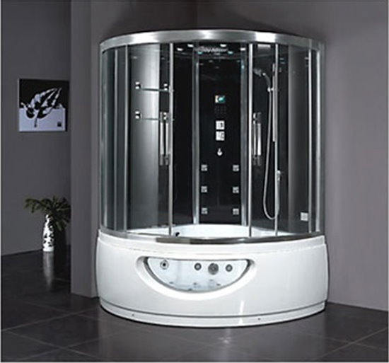 Steam Shower Whirlpool Bathtub DA333F8 60x60x91