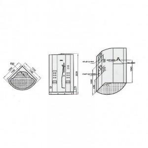 DZ931F3 Steam Shower 47.25″x47.25″x87″