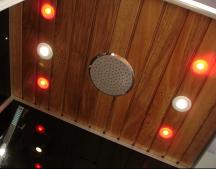 lights in steam shower room